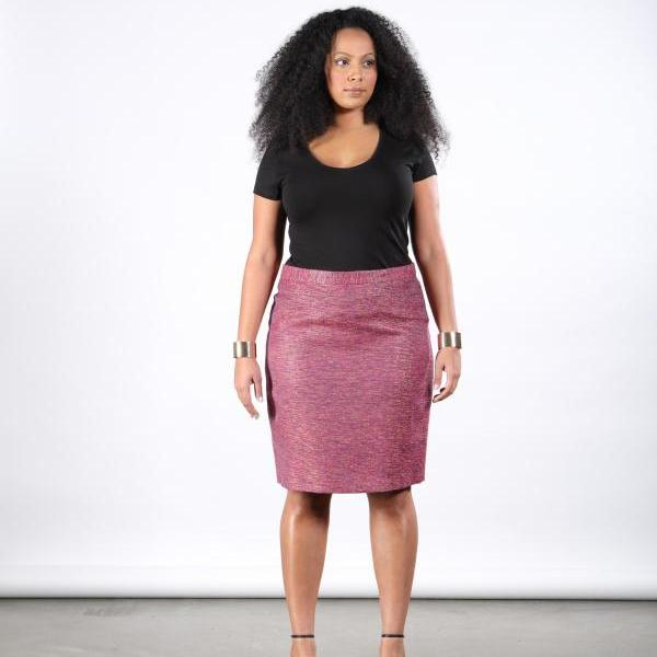 PLUS SIZE Handwoven Silk Skirt